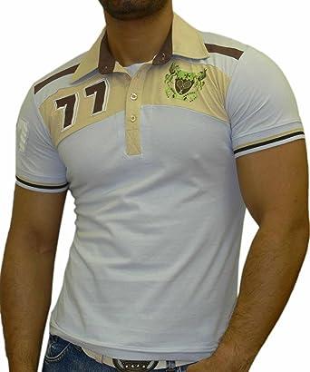 Rusty Neal Manga Corta Hombre Slim Fit Polo Style Camiseta de ...