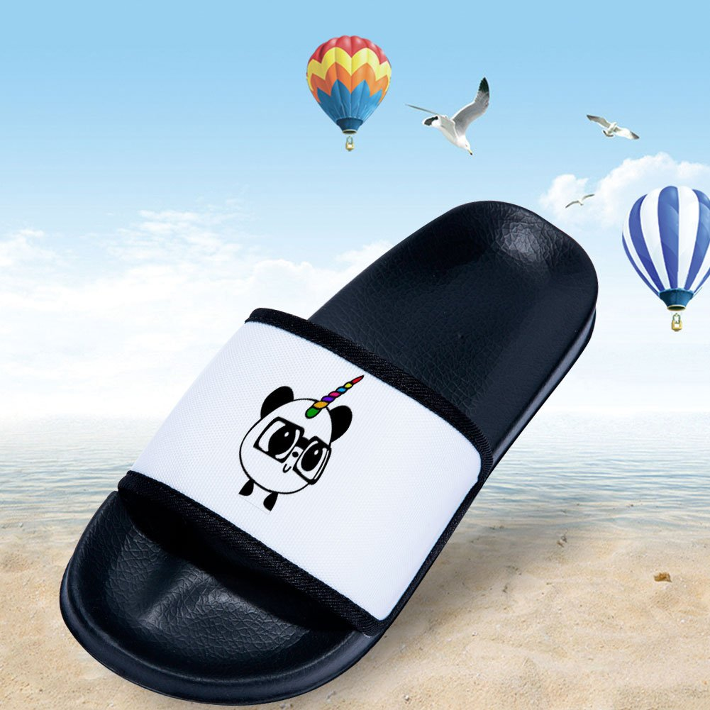 MingDe Sports Slides Sandals for Boys Girls Panda Comfortable Soft Sole slipper Shoes Little Kid//Big Kid
