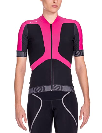 Image Unavailable. Image not available for. Color  Skins Cycle Women s  Tremola Jersey Short-sleeve Black Pink Medium 79b8540d2