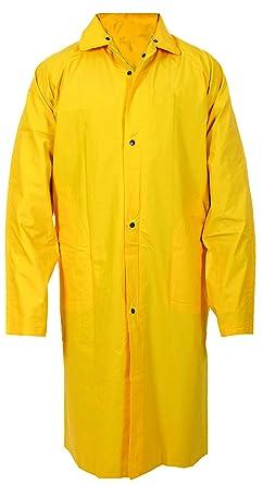c66e84fc4b0e7 First Class Full-Length Yellow Raincoats 100% PVC at Amazon Men s ...
