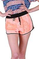 G2 Chic Women's Tie Dye High Waist Knit Shorts
