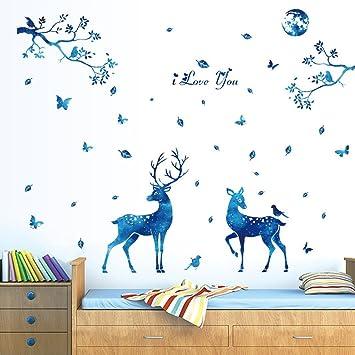 Arrière-plan de la personnalité créative de Blue Star fresque murale ...