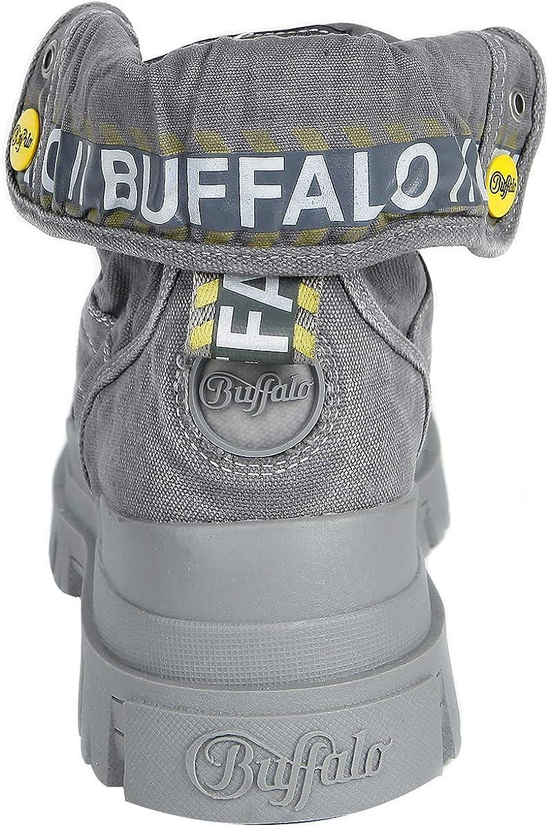 Buffalo Panthera Hi, Bottes Rangers Femme Gris Dark Grey