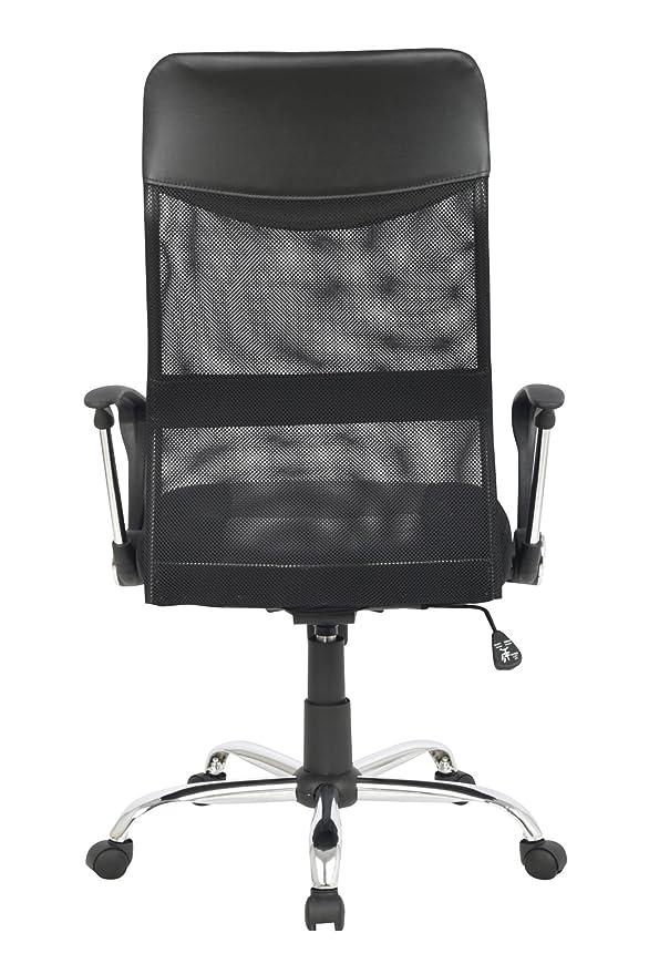 SixBros. Design - Sillón de Oficina Silla de Oficina Silla giratoria Negro - H-935-6/1319