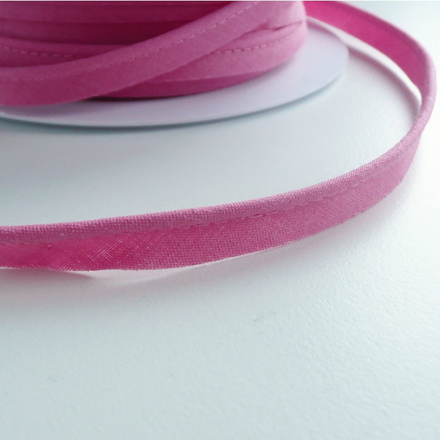 flanged 2mm insert piping cord poly cotton bias cut Many Colours White Sold by the Metre