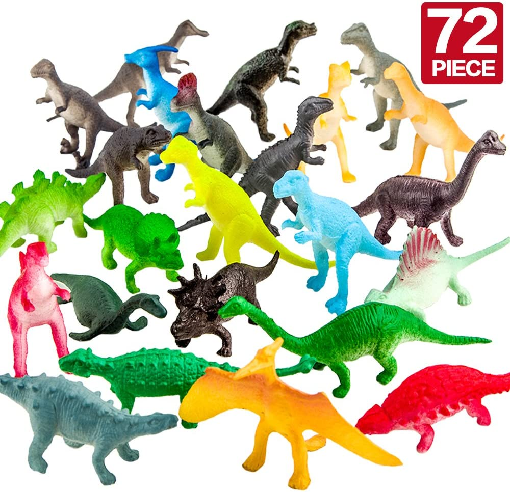 B01KYYJXDQ ValeforToy 72 Piece Mini Dinosaur Toy Party Set 71KZ6DKzDnL