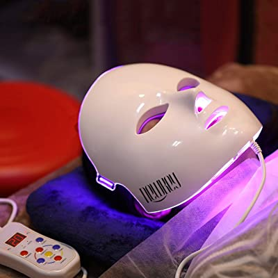 Led Face Mask, NEWKEY Led Light Therapy 7 Color Facial Skin Care Mask