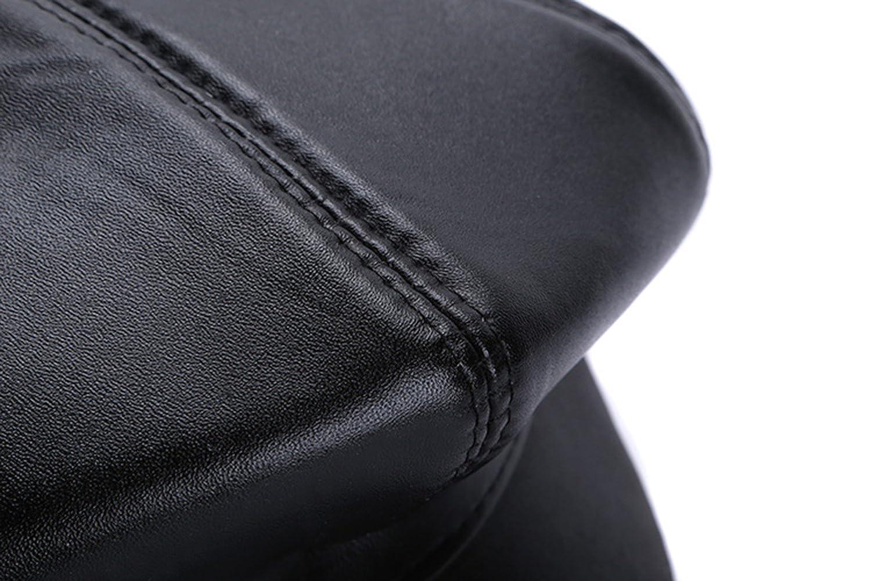 MYMYU Cappello in pelle unisex Moda Cappello ottagonale per uomo e donna 2a84394e9fa1