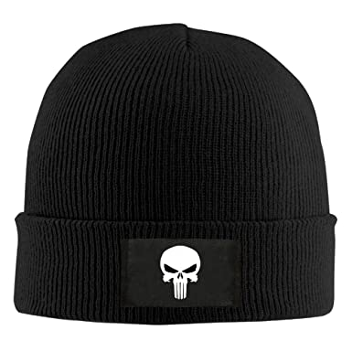 Punisher Skull Cool Beanie Hat at Amazon Men s Clothing store  532ec288a19
