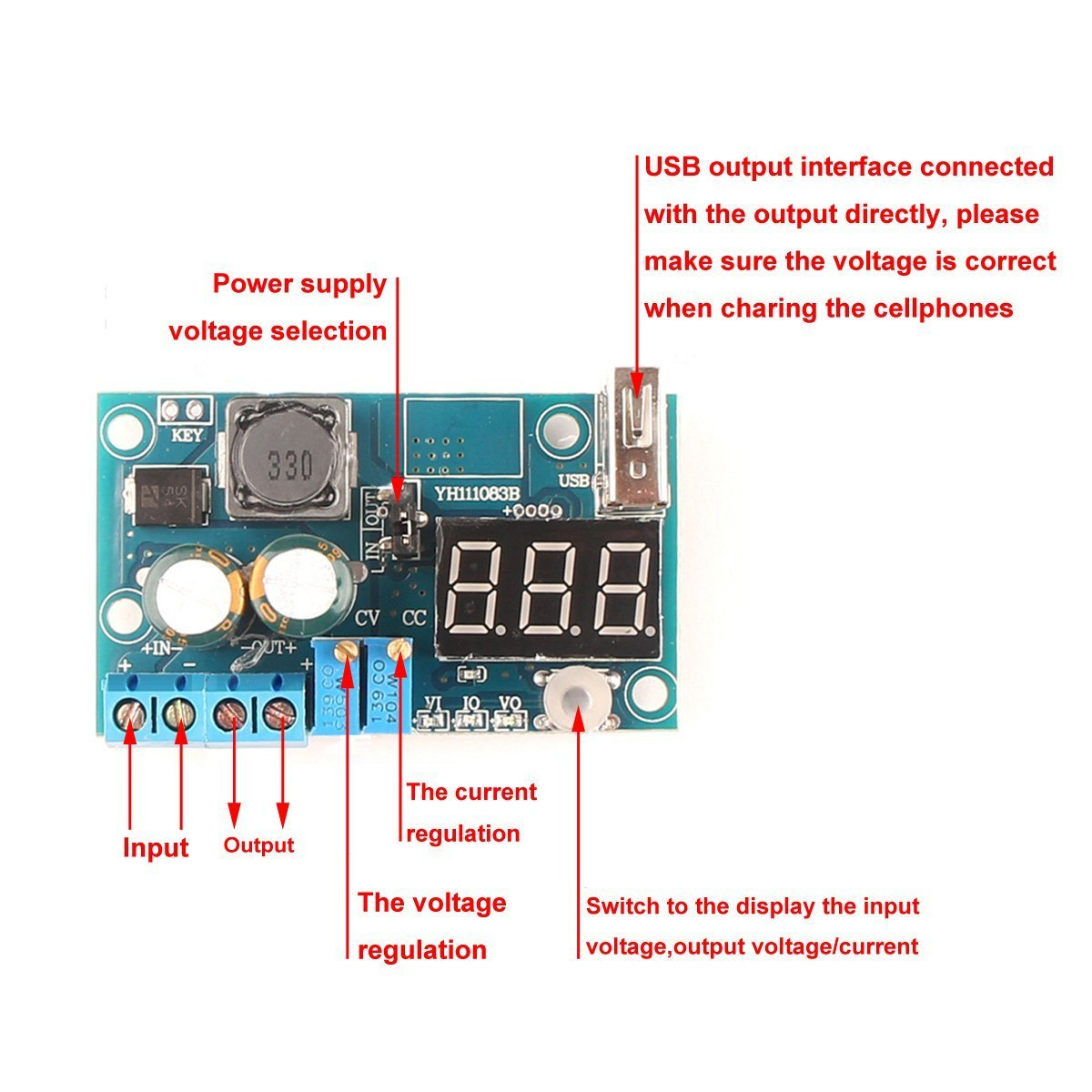 Riorand Lm2596 Dc Buck Converter Constant Current Voltage Cvcc Power Supplies Schematic Electronics