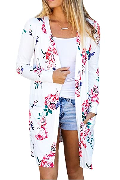 Suvotimo La Mujer Casual Floral Print Boho Ropa Outwear ...