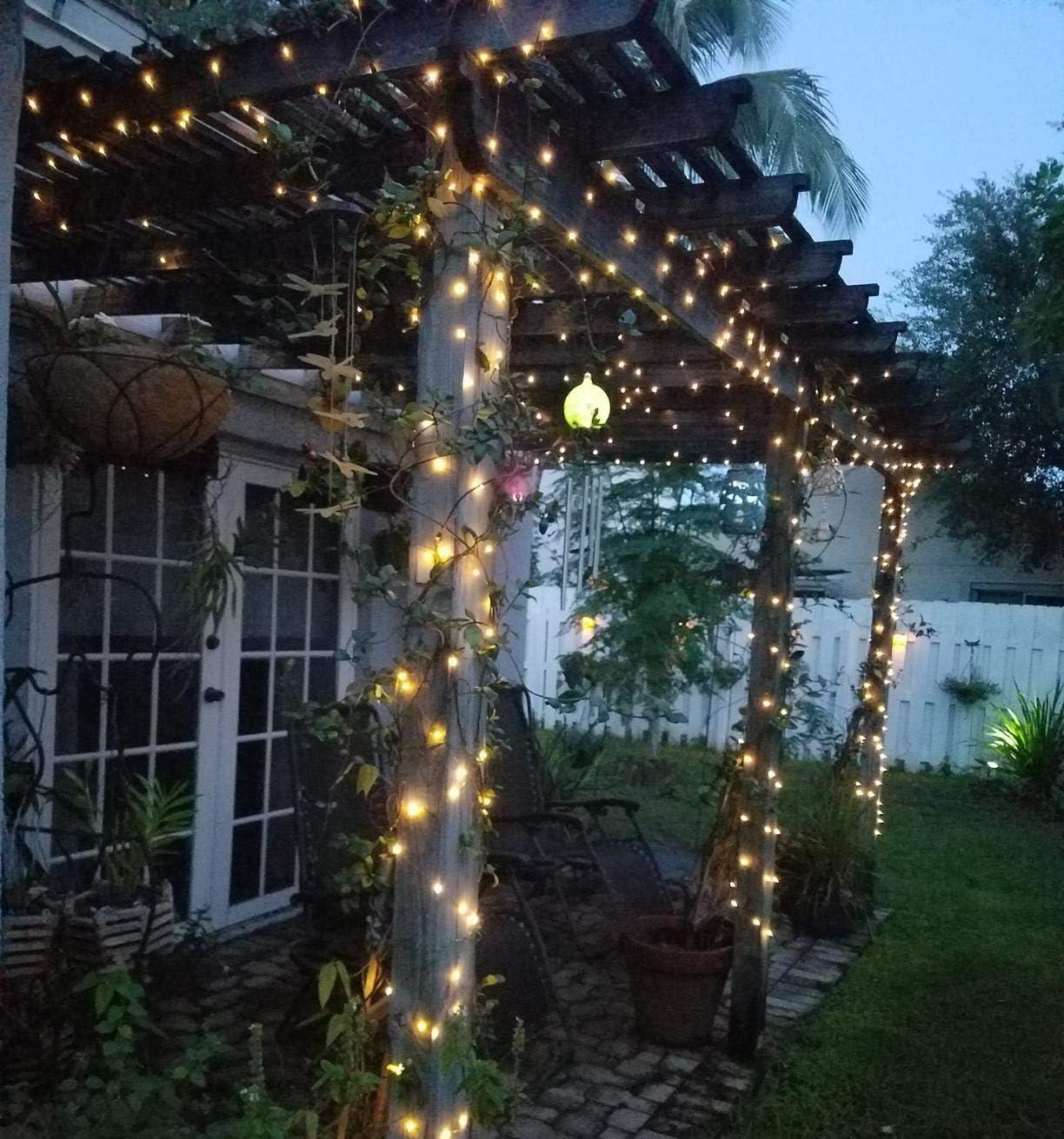 Details about  /5M LED Solar Bulb String Light Garden Fairy Light Twinkle Garland Lamp Christmas