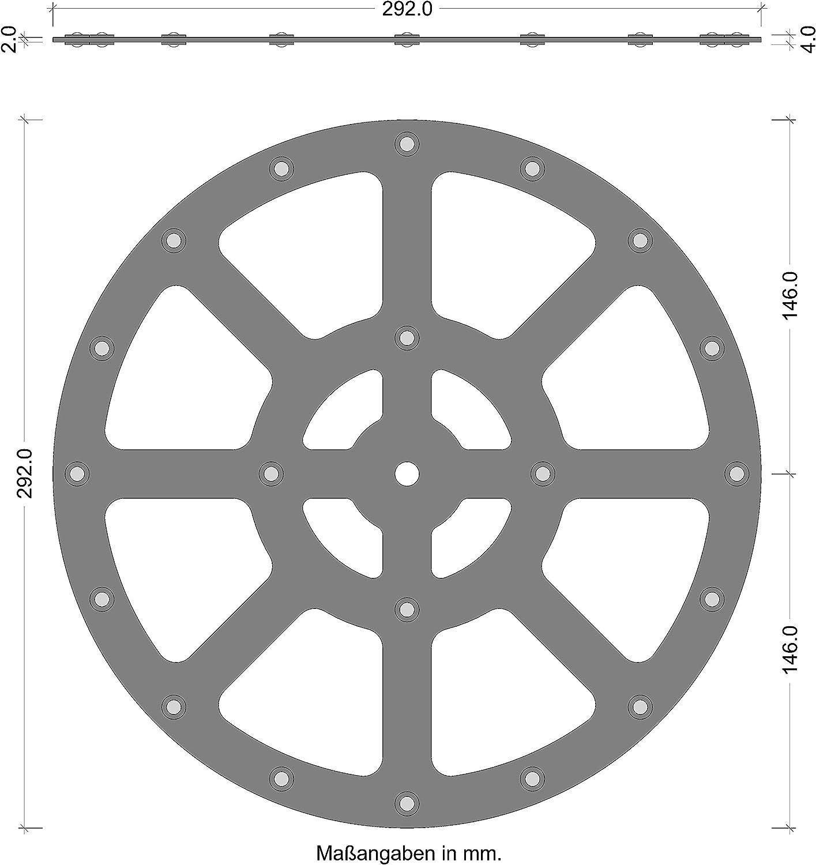 Drehteller Drehplatte Drehbeschlag Ciak Metall Drehscheibe Drehkranz 300 kg