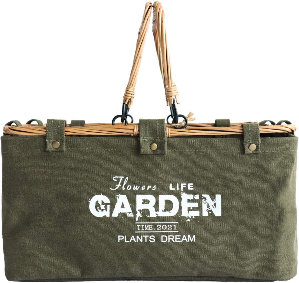 KOSNOR Farmer Market Basket Garden Gifts for Women