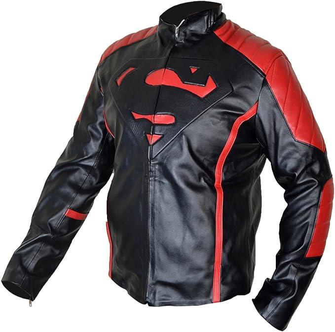 Veste Superman pour homme en simili cuir de la série