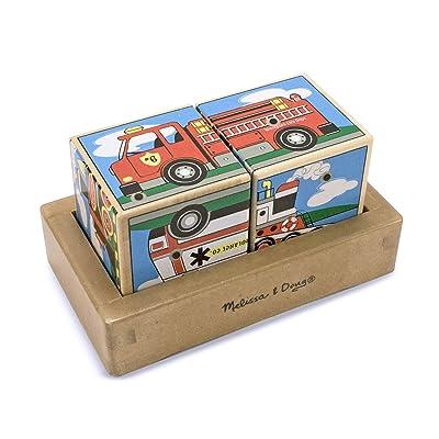 Melissa & Doug Vehicles Sound Blocks: Melissa & Doug: Toys & Games