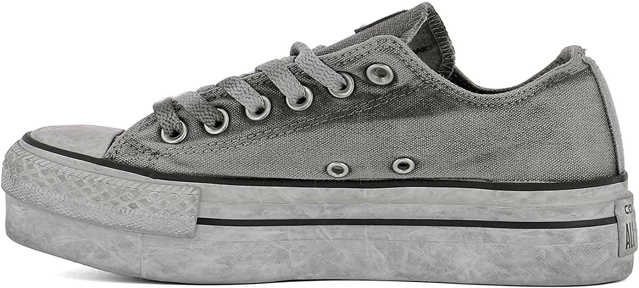 Converse Damen 558452C Grau Stoff Sneakers: