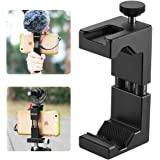 Ulanzi ST-02 Metal Phone Tripod Mount with Hot Shoe Mount Smartphone Holder Video Rig Tripod Mount Adapter for Apple iPhone X / 8/7 Plus/6s Sumsang Android Smartphones - Black