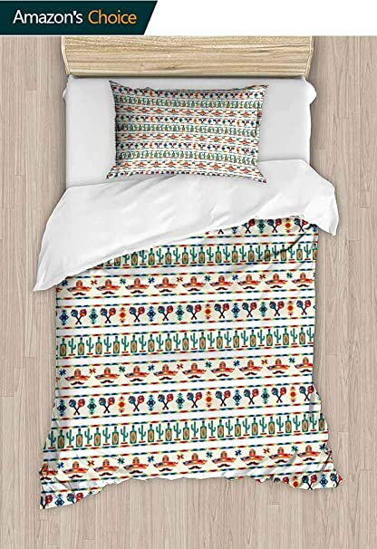Amazon Com Mexican Diy Quilt Cover And Pillowcase Set