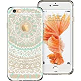 ESR iPhone 6s Case,iPhone 6/6s Case Hybrid, Shock Absorbing, TPU Bumper, Scratch Resistant, Hard Back Cover Clear with Design Protective Cover for iPhone- Mint Mandala