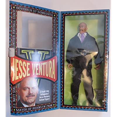 Jesse Ventura Man Of Action Governor Of minnesota 12' Fully Articulated Action Figure From Toyboy Man 1999: Toys & Games