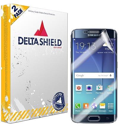 DeltaShield Samsung Galaxy S6 Edge Plus Screen Protector [2-Pack],  BodyArmor Full Coverage Screen Protector for Samsung Galaxy S6 Edge Plus