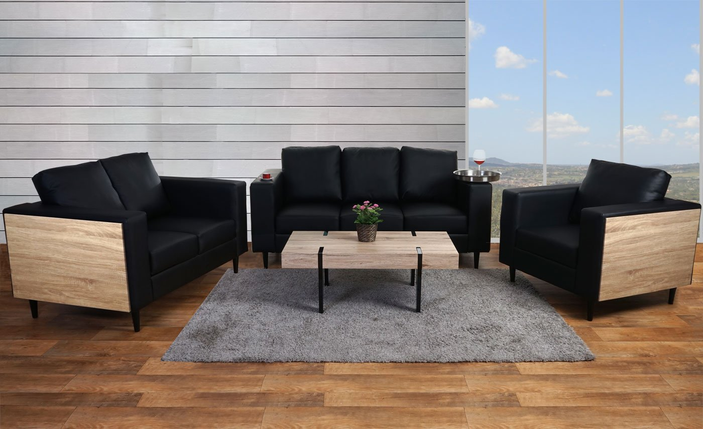 kunstleder couch schwarz affordable erstaunlich weie. Black Bedroom Furniture Sets. Home Design Ideas