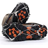 Lebolike 10 Micro spikes Footwear Ice Traction System Safe Protect for Walking, Jogging, or Hiking on Snow and Ice