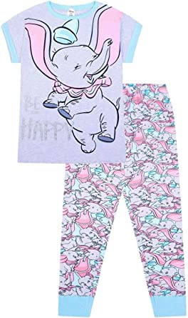 Disney Dumbo Be Happy - Pijama largo de algodón para mujer