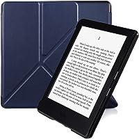 Capa Origami para Kindle 8a geração - fecho magnético (azul escuro)