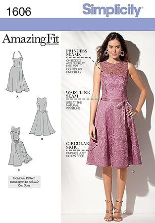 Simplicity Nähmuster 1606 – Amazing-Fit-Kleid für Damen und Mädchen ...