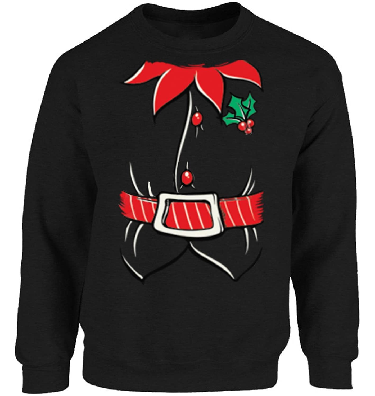 c1e20c9444db Vizor Christmas Tuxedo Sweatshirt for Men and Women Christmas Sweater Party  Santa Christmas Sweater for Men and Women at Amazon Men's Clothing store:
