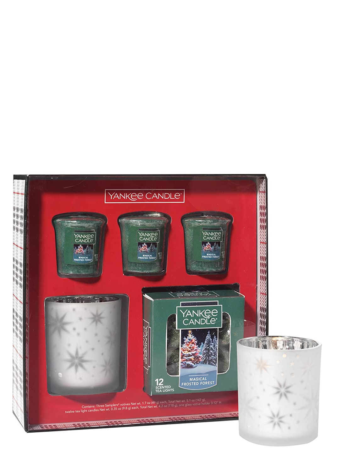 Yankee Candle Magical Frosted Forest Votive Tealight Gift Set