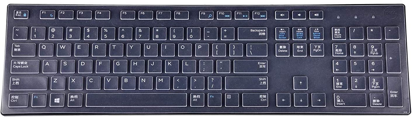 Pink Keyboard Cover Compatible with Dell KM636 KB216 /& Dell Optiplex 5250 3050 3240 5460 7450 7050 /& Dell Inspiron AIO 3475//3670//3477 All-in one Desktop Keyboard KeyCover