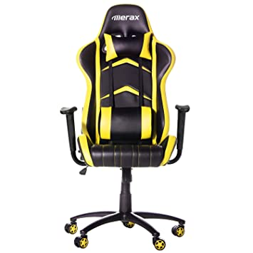 merax racing style pu leather office chair 180 degree back adjustment swivel computer gaming chair executive