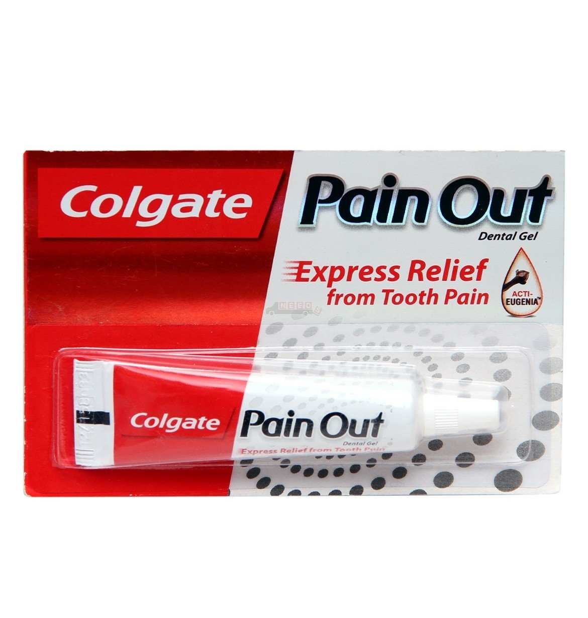 Colgate Pain Out Dental Gel - Express Relief from Tooth Pain - Proprietary Ayurvedic Medicine -10g-ACTI-EUGENIA