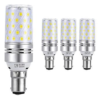 Hzsane B15 LED maíz bombilla, 12W, 3000K Blanco Cálido LED Bombillas, 100W Incandescente