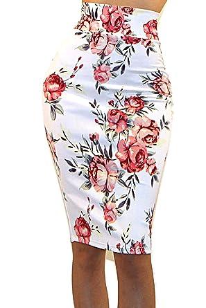 83653d3e1 Vivicastle Women's High Waist Band Bodycon Career Office Midi Pencil Skirt  (Small, AI1,
