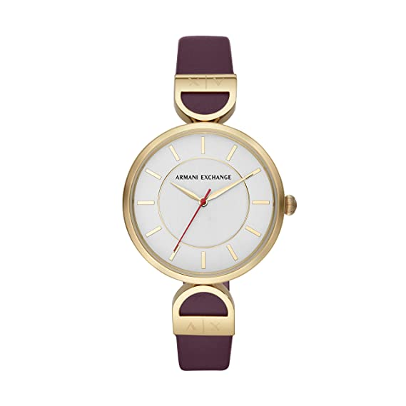 70419e37c7cf Buy Armani Exchange Brooke Analog White Dial Women s Watch - AX5326 Online  at Low Prices in India - Amazon.in