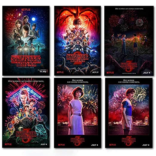 GVC Stranger Things Posters Wall Stickers Home Decoration TV ...