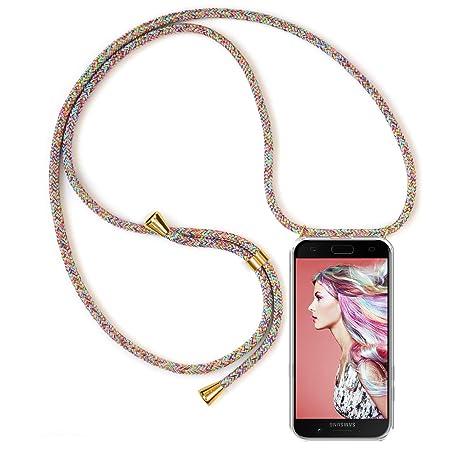 Zhinkarts Handykette kompatibel mit Samsung Galaxy A5 2017 (A520) - Smartphone Necklace Hülle mit Band - Schnur mit Case zum