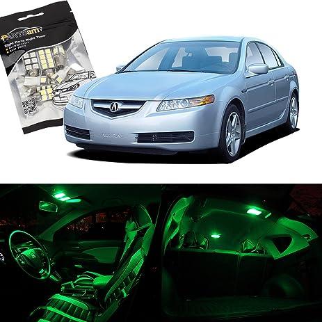 Amazoncom Partsam Acura TL Green Interior LED Package - Acura tl 2004 interior