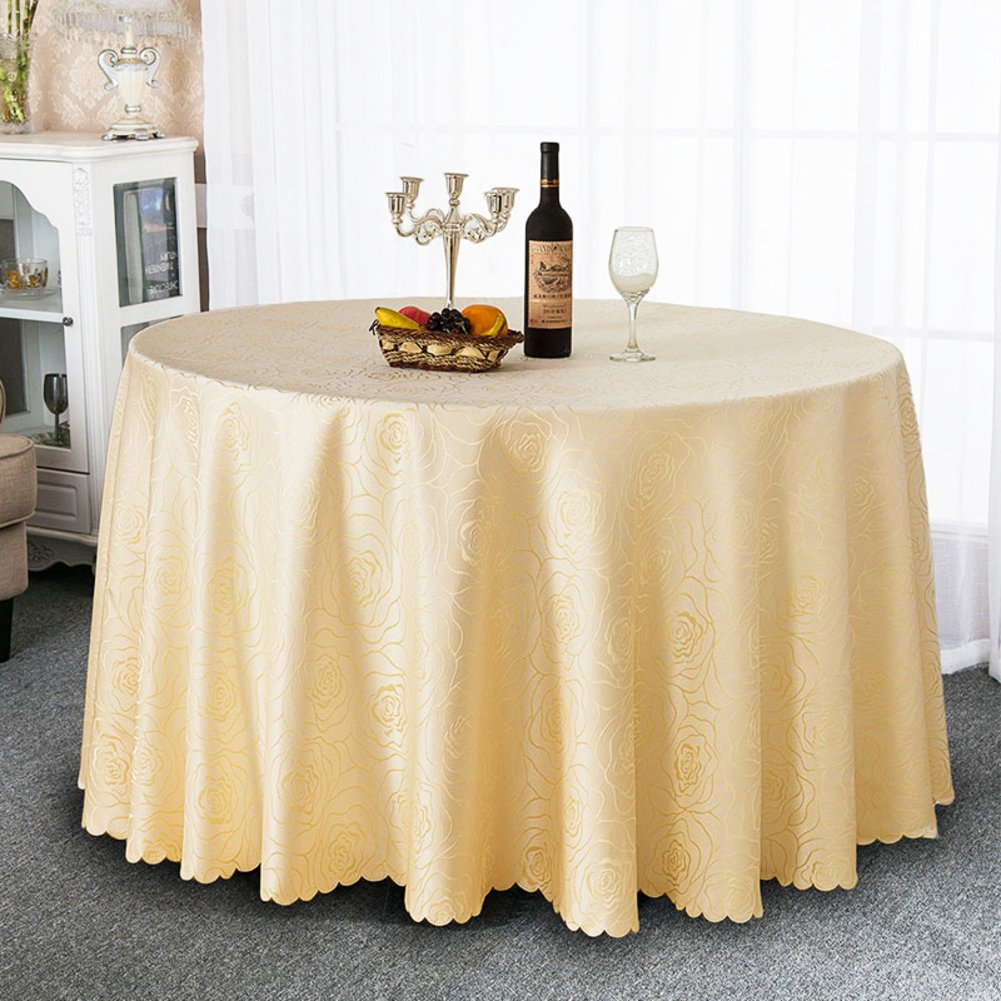 B Circle (149149inch) Hotel antiOil tablecloth dining room table linen table covers for home cafe restaurantE Circle (142142inch)