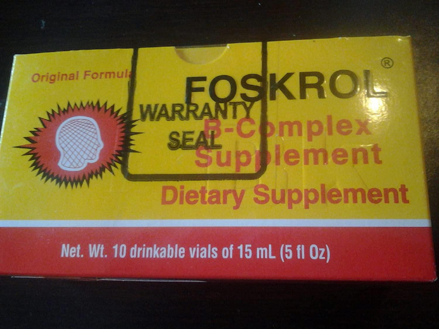 Foskrol Vitamins for Brain and Nerves 10 Ampoules 0f 15ml by biokemical
