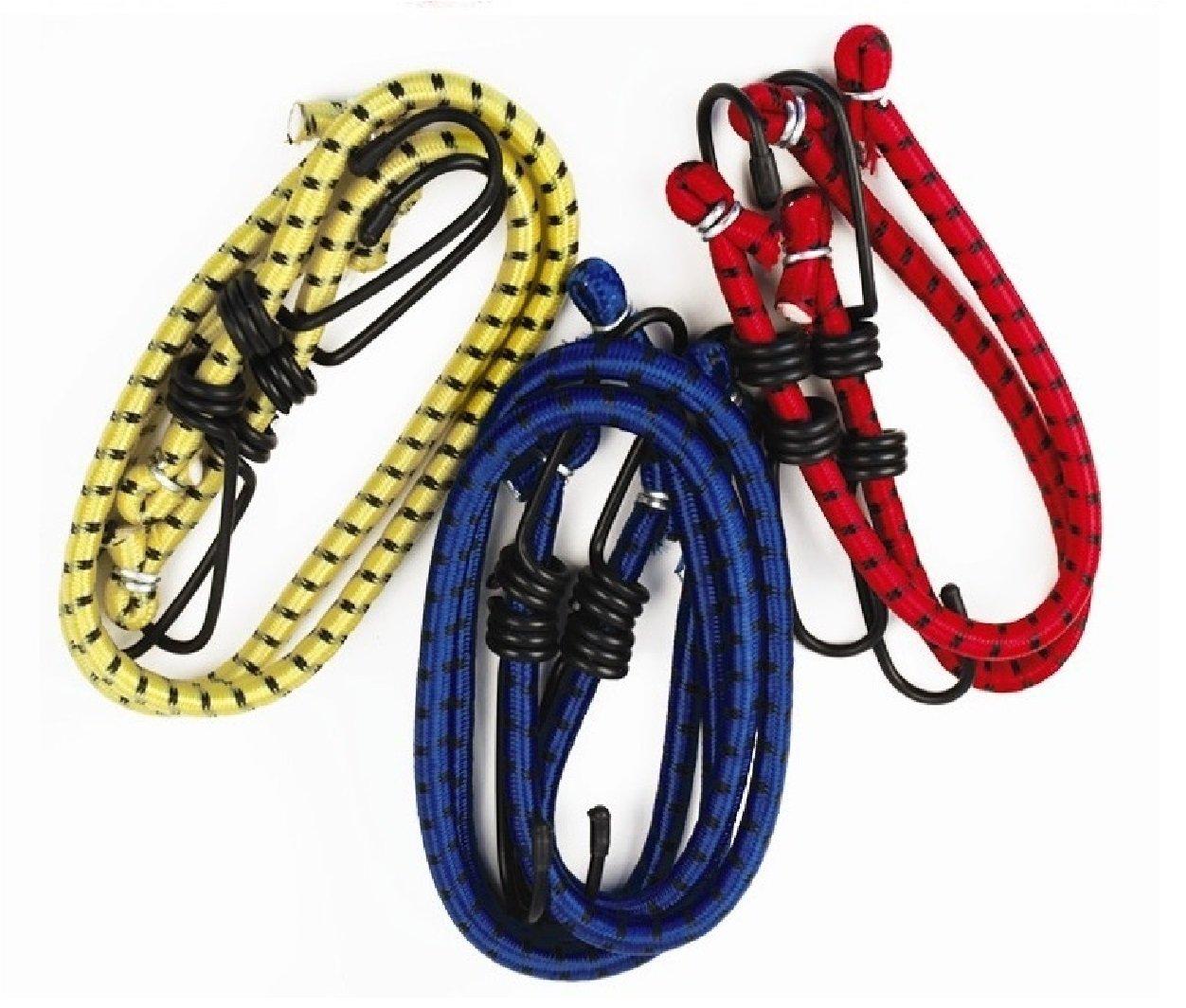 Luggage Straps//Car Ties Rope Hook Set 2x Heavy Duty 36 Long Elastic Bungee Cords