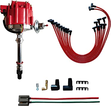Amazon.com: MAS HEI Distributor & Spark Plug Wires & FREE 170072 HEI  Distributor Battery and Tachometer Pigtail Wire Harness Combo Kit  Replacement For Chevy Chevrolet GMC SBC 350 400: Automotive   Chevy 350 Tach Wiring      Amazon