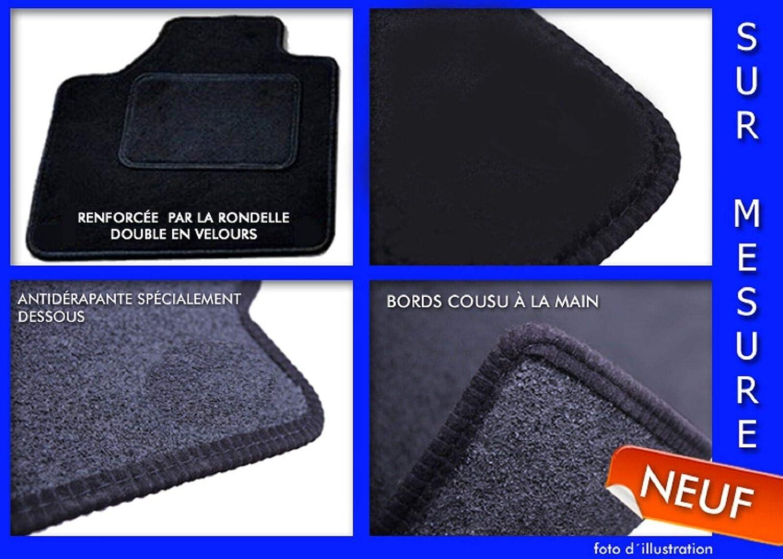 J/&J AUTOMOTIVE Tapis de Sol Noir Velours Compatible avec BMW 1 Serie F20 2011-2016 4 pcs