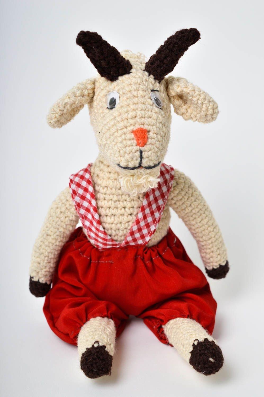 Animalito tejido a crochet juguete artesanal peluche original Chivo bonito: Amazon.es: Juguetes y juegos