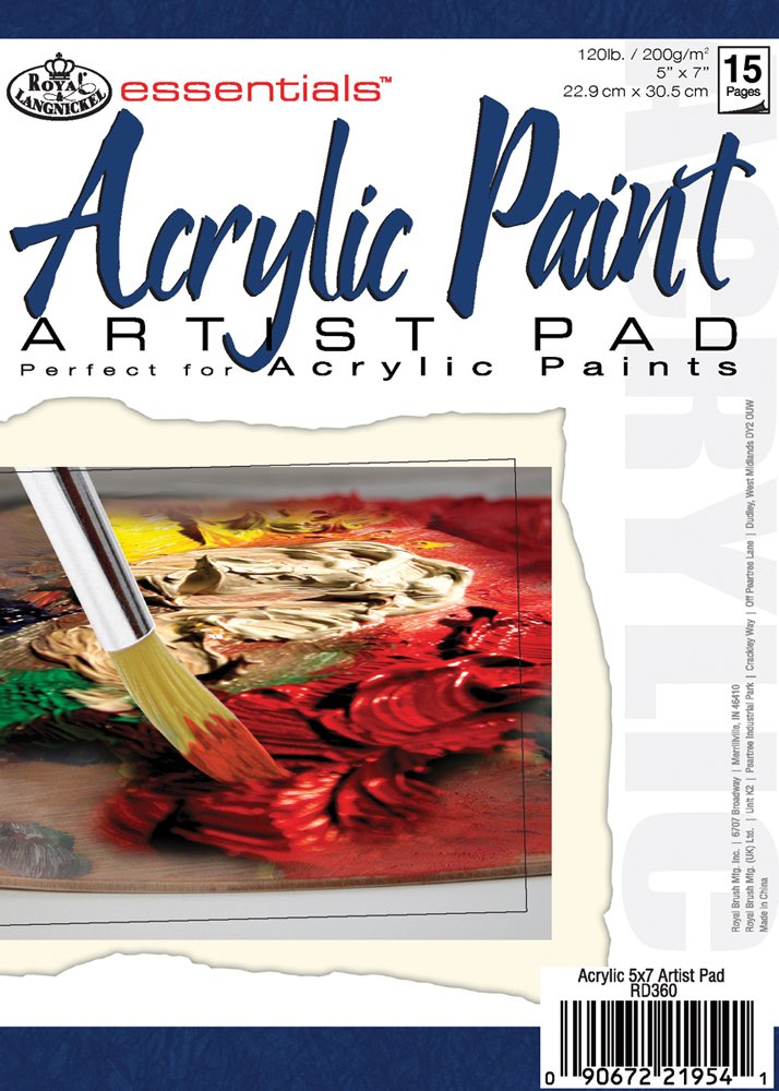 "essentials(TM) Acrylic Artist Paper Pad 5""X7"", 15 Sheets"