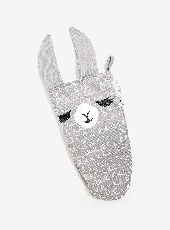 Kitsch'n Glam Llama Grey Oven Mitt
